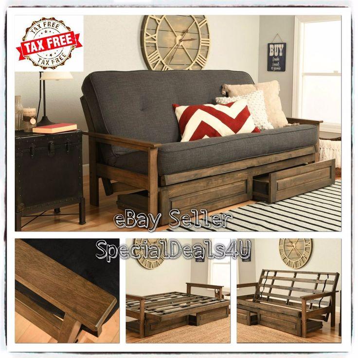 Convert Rustic Couch Loveseat Futon Sofa Furniture Living Room Storage Sleeper #SD4UFurniture