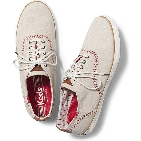 Keds Men's Champion Vintage Baseball ($65) ❤ liked on Polyvore featuring mens, men's shoes, men's sneakers and natural