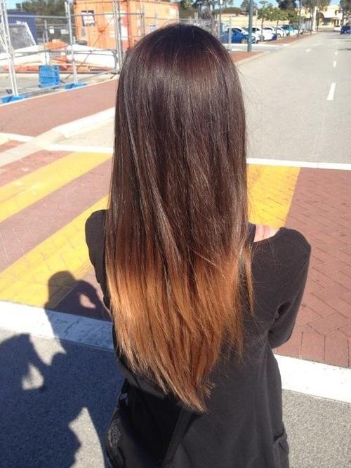 dip dye hair black to brown - photo #10