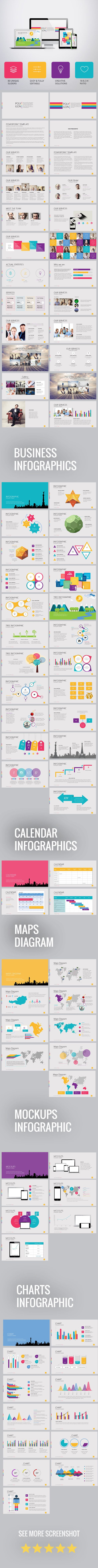 Polygon Presentation Template for Business (PowerPoint Templates)