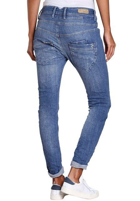 Skinny-fit-Jeans »Marge« mit halb offenen Knop-Verschluss