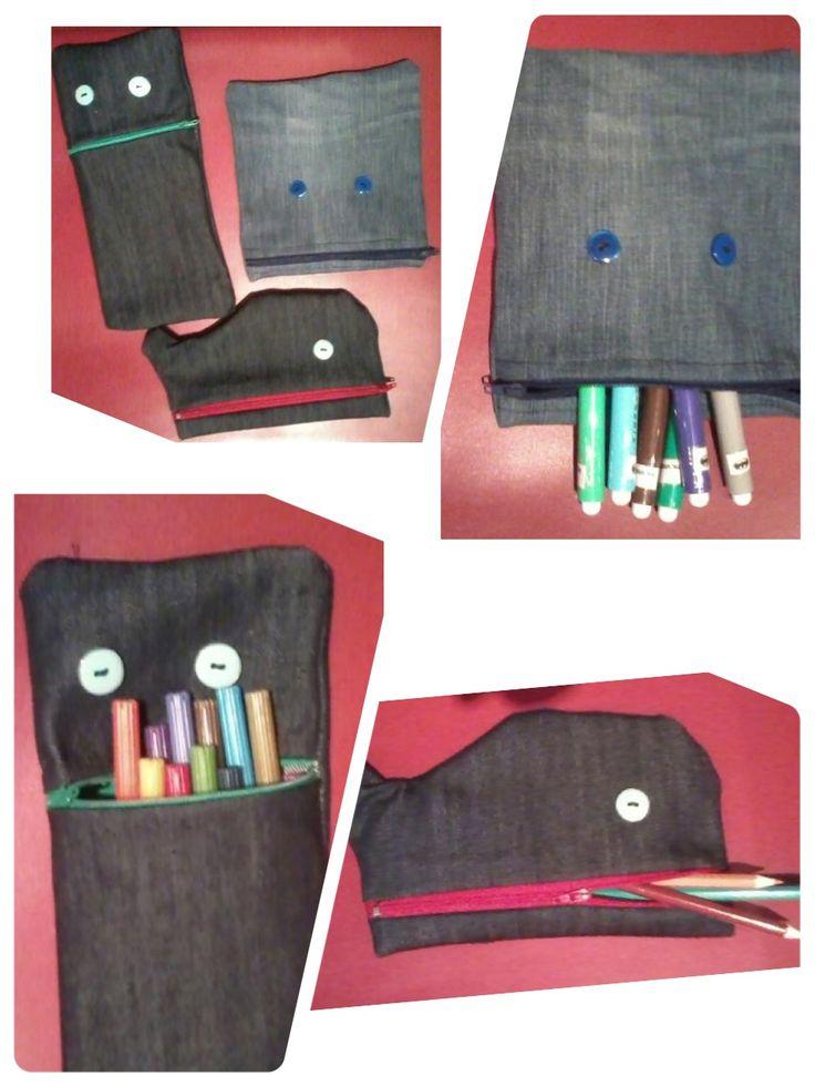 Astucci x pennarelli e matite!!!! Balena e due mostri mangia penne!!!!