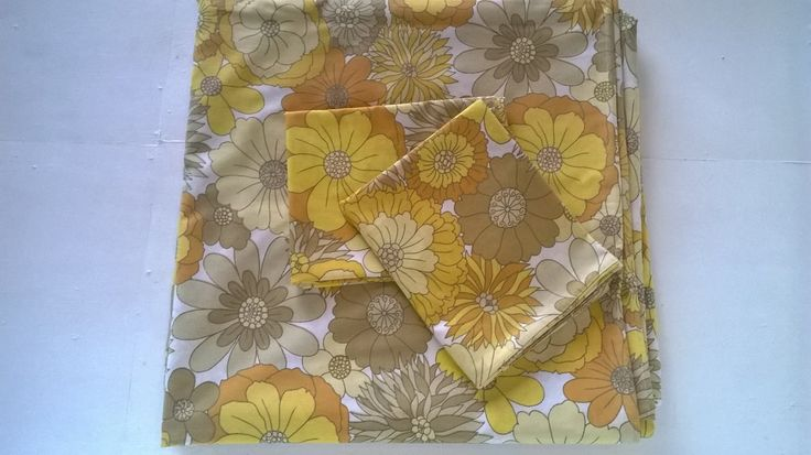 SOLD Vintage double duvet cover set with pillow cases - Marks & Spencer, St Micheal by BlindDogVintage on Etsy