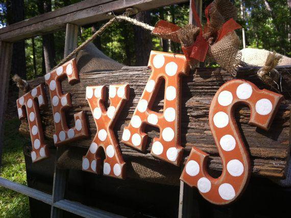 Texas Longhorns Barn Wood Sign.