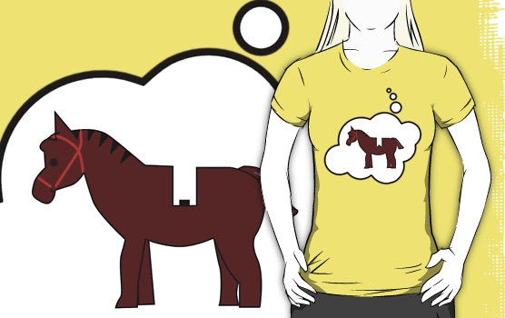 Minifig Horse T-shirt by Bubble-Tees.com by Bubble-Tees
