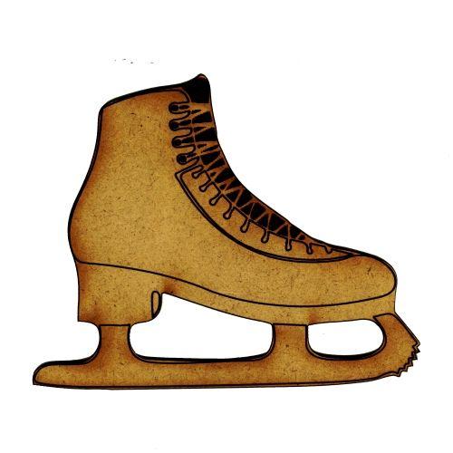 Ice Skates with Laces - MDF Wood Shape Style 1