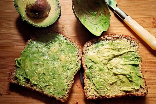 avocados can add variety — and good nutrition — to your diet. Instead of spreading butter or cream cheese on your bread or bagel, use some mashed avocado instead. Replace that mayo you'd usually put on a sandwich with avocado slices. You'll not only save calories, you'll be cutting out saturated fat and increasing your daily intake of monounsaturated fat as well.