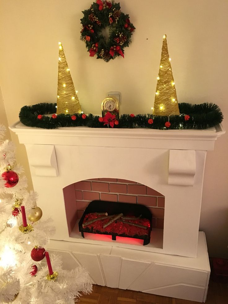Fireplace Design diy cardboard fireplace : 33 best Scream Queens Wear images on Pinterest