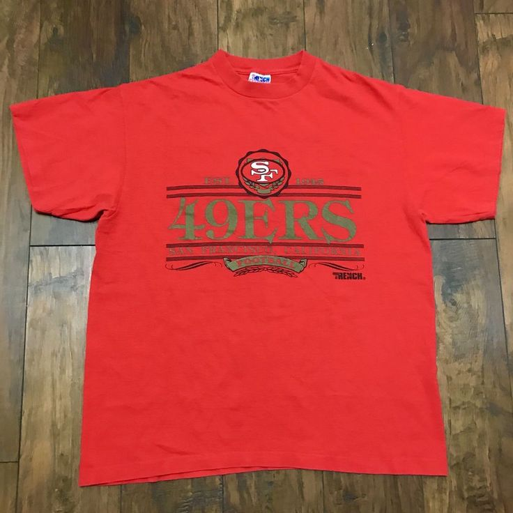 Vintage 1980s Trench San Francisco 49ers Forty Niners Shirt Made in USA Mens XL #SanFrancisco49ers #sportswear #1980s #sf #80s #fortyniners #49ers #streetwear