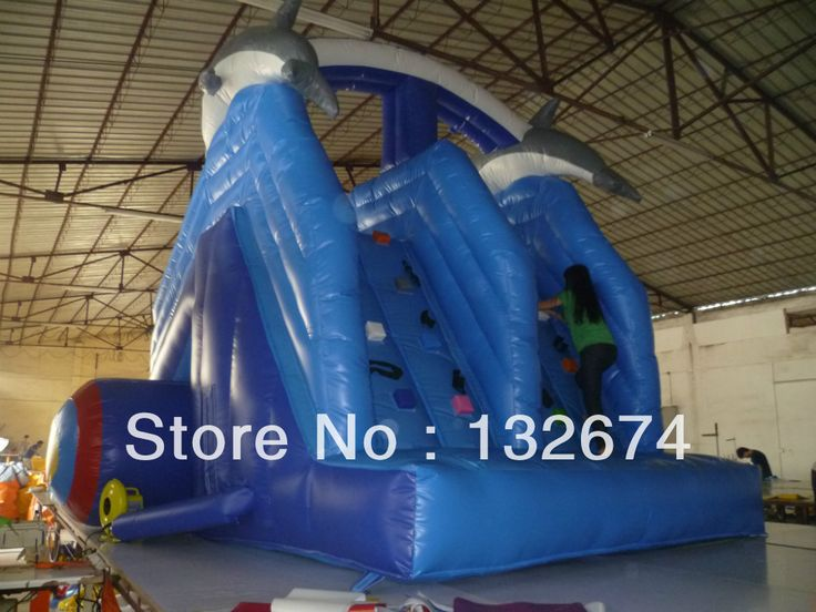 Inflatable pool slide climbing slides promotional activities