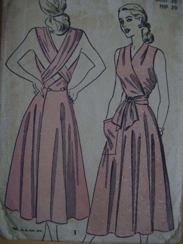 c.1940's Vintage Advance Woman's Sewing Pattern 4818 Su...
