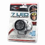 Light your way anywhere with this wide-beam headlamp. It features seven ultra-bright LED bulbs in an adjustable head that's mounted on adjus...