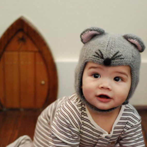 Just too adorable! mouse hat ( cashmere)