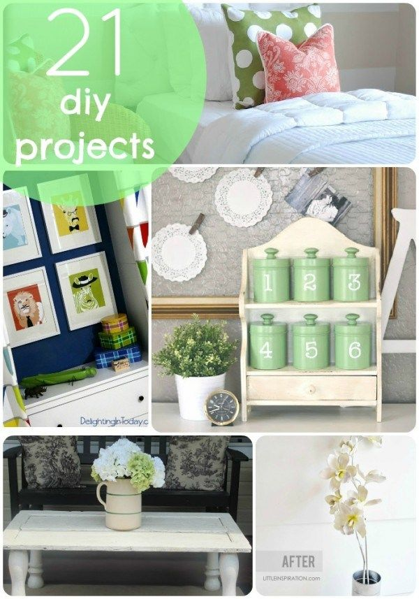 21 DIY Projects to Spruce up YOUR home! -- Tatertots and Jello: Diy Ideas, Crafts Ideas, Diy Crafts, 21 Diy, Projects Ideas, Beautiful Diy, Diy Projects, Crafty Ideas, Picmonkey Collage