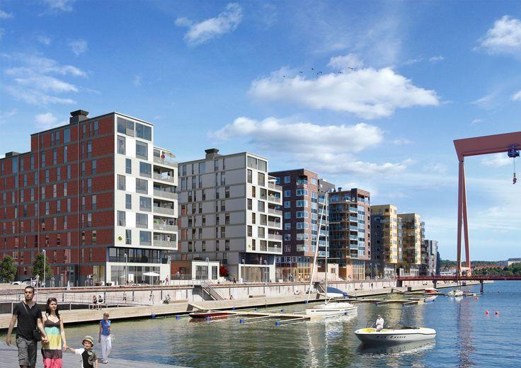 3D-bild för HSB, Västra Eriksberg, Göteborg