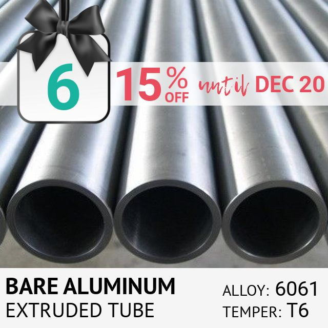 Extruded Bare Aluminum 6061 T6 Round Tube from Online Metals