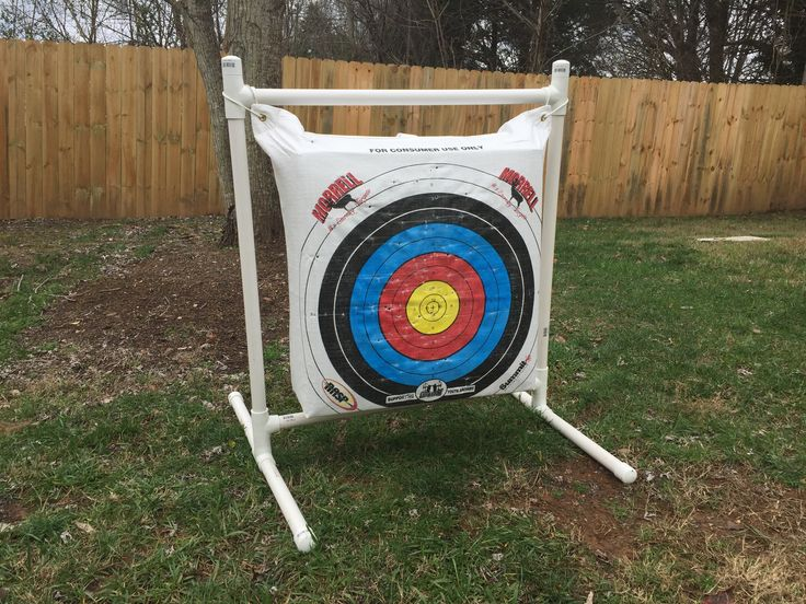 25 best ideas about archery target stand on pinterest for Pvc pipe bow plans