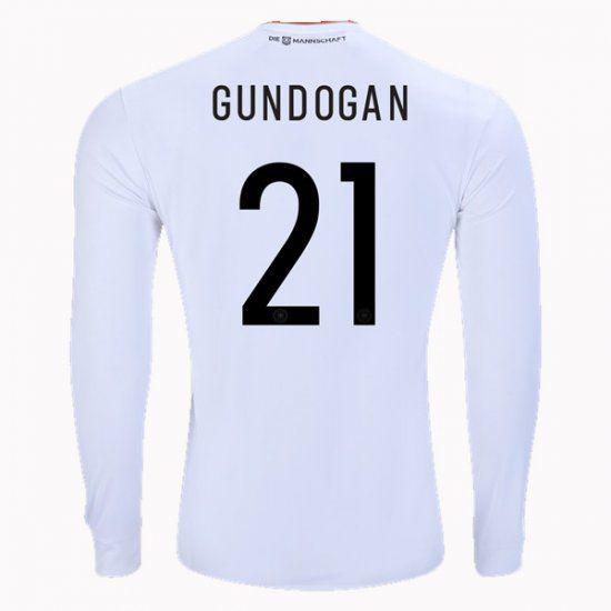 2017 Germany Soccer Team LS Home #21 Gundogan Replica Football Shirt 2017 Germany Soccer Team LS Home #21 Gundogan Replica Football Shirt