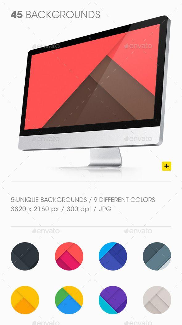 45 Material Design Backgrounds. Download here: http://graphicriver.net/item/material-design-backgrounds/11158730?ref=ksioks