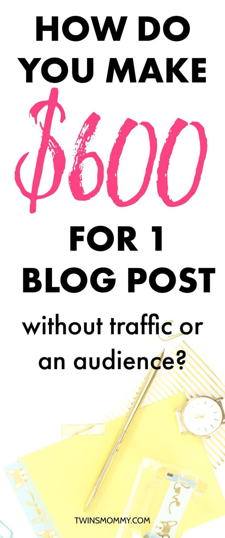 How do you make money blogging? Learn how I made $600 with one post and you know what? No blog traffic and no blog audience! Wow! how to start a blog and make money | make money as a stay at home mom #makemoneyonline #blogger