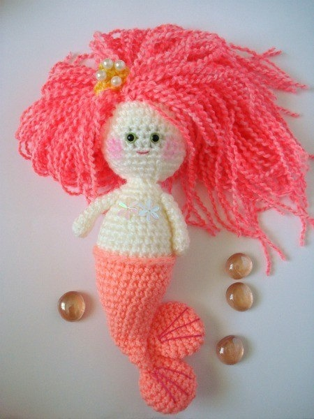 Amigurumi Mermaid Pattern : crochet mermaid doll for my Hawaii baby :) kniting ...