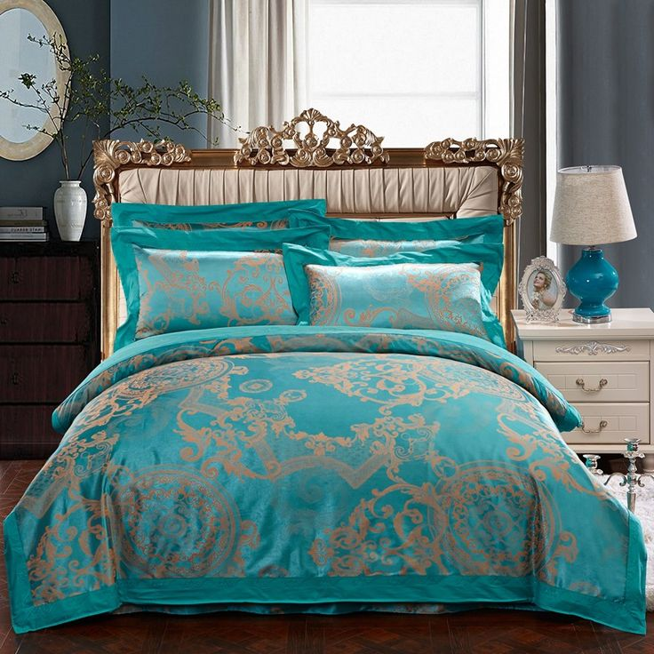 Information About 16 Colors Luxury 60s Jacquard Bedding Set Queen Size 4pcs Satin Cotton Duvet Cover Sheet Housse De Couette Ropa Cama High Quality