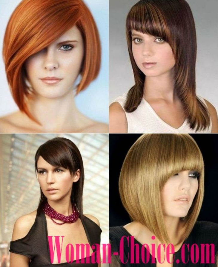 Trendy Haircuts For Hair Of Medium Length 2018 2019 100 Photos Womanchoice Online Magazine For Women Hair Styles Hair Lengths Graduated Haircut