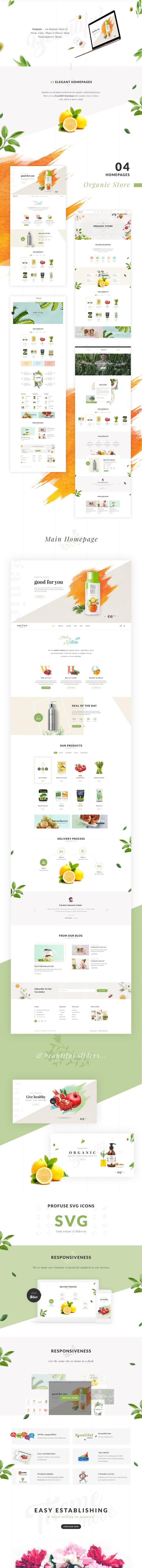 Organie - A Delightful Organic Store WooCommerce Theme on Behance