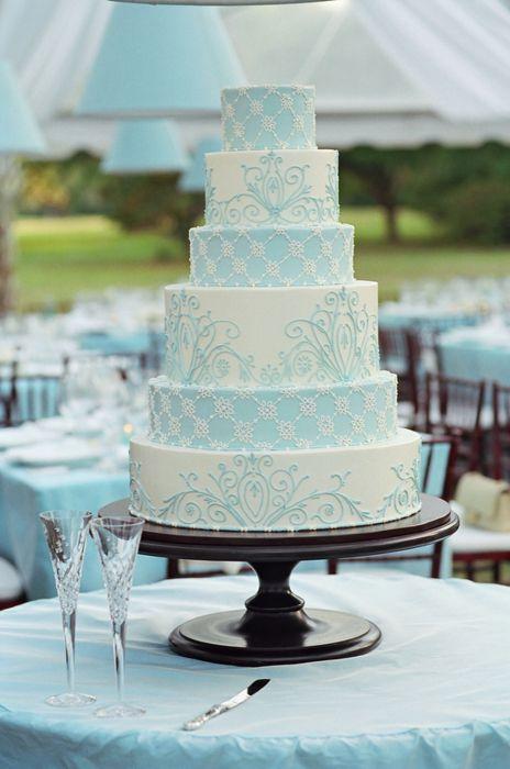 Light blue and white | Wedding cakes | Pinterest
