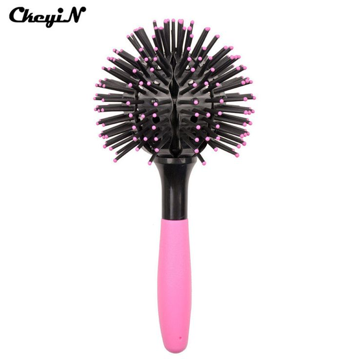 CkeyiN 3D Round Hair Brush Detangling Hair Styling Curling Comb Makeup Tool Salon Hairdressing Comb Hairbrush Beauty Accessories