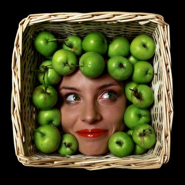 "Saatchi Art Artist Masha Knyazeva-Trotzky; Photography, ""Green Apple / from series ""Basket People"""" #art"