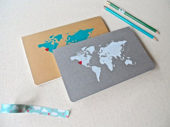 Travel journal custom world map sketchbook by pattonprints travel journal custom world map sketchbook by pattonprints 2000 e loved it gift ideas pinterest journal note and gift gumiabroncs Images