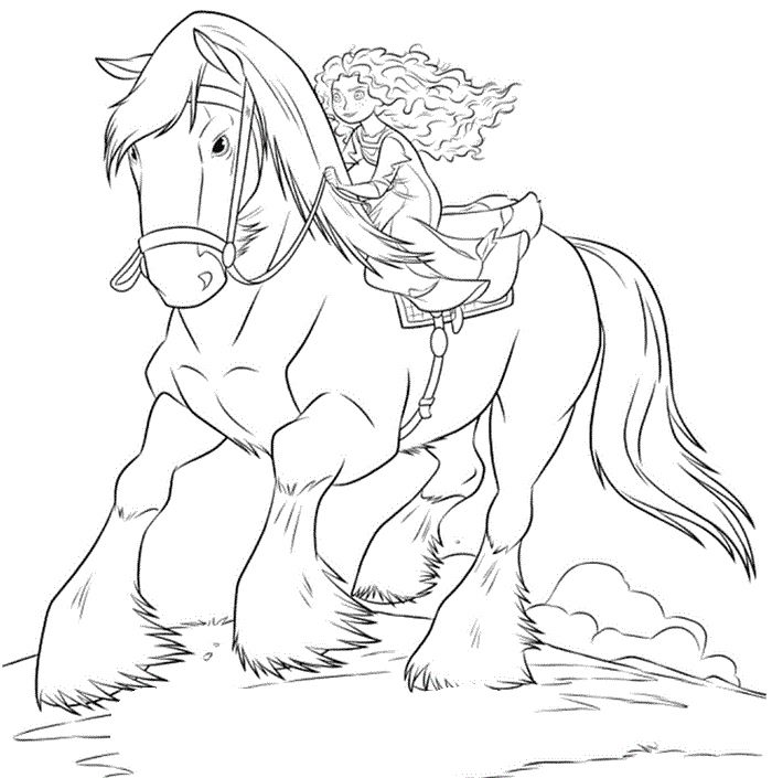princess horse coloring pages - photo#20