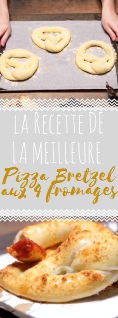 Découvrez la recette de la pizza bretzel aux 4 fromages