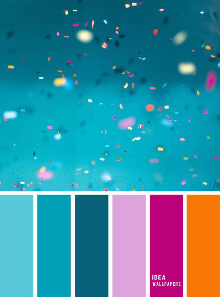 A Pretty Color Palette Of Teal Magenta Orange And Lavender