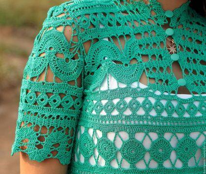 Платья ручной работы. Вязанное крючком платье изумрудного цвета. Евгения Долгина. Ярмарка Мастеров. Вязанное платье,…