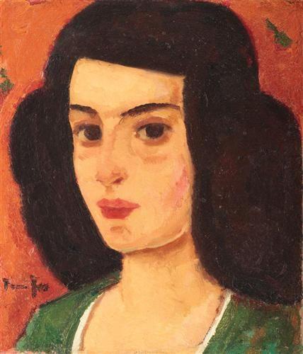 Venice Girl (Putana), by Nicolae Tonitza (Romanian: 1886-1940)
