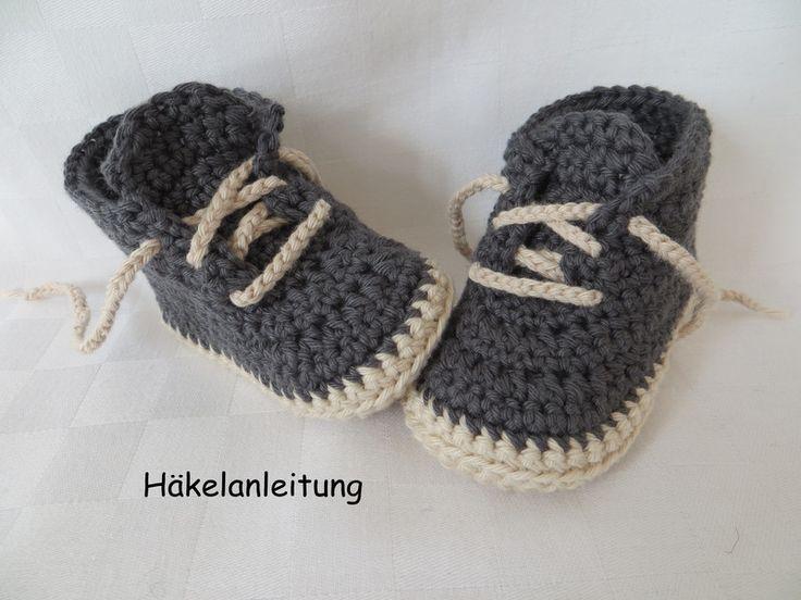 Strick- & Häkelschuhe - Babyschuhe in 4 Größen, Häkelanleitung - ein Designerstück von zwergerlstrick bei DaWanda