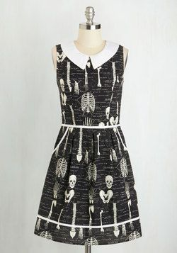 Rad to the Bone Dress. XS- worn twice. Glows in the dark and has pockets! Slight stretch. $75 shipped