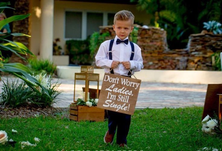 These wood signs are such a cute way to have your ring bearers or flower girls enter and/or exit your wedding ceremony. Each sign measures 11 x 11 and is 1/4 inch thick to ensure a light enough sign for the children to hold. Signs are hung with Jute. If you prefer a ribbon instead, send me a message so we can decide on a ribbon color. Each sign can be made with a wide variety of phrases and colors. The signs can be purchased as one sided or two sided. Please send me a message with the…