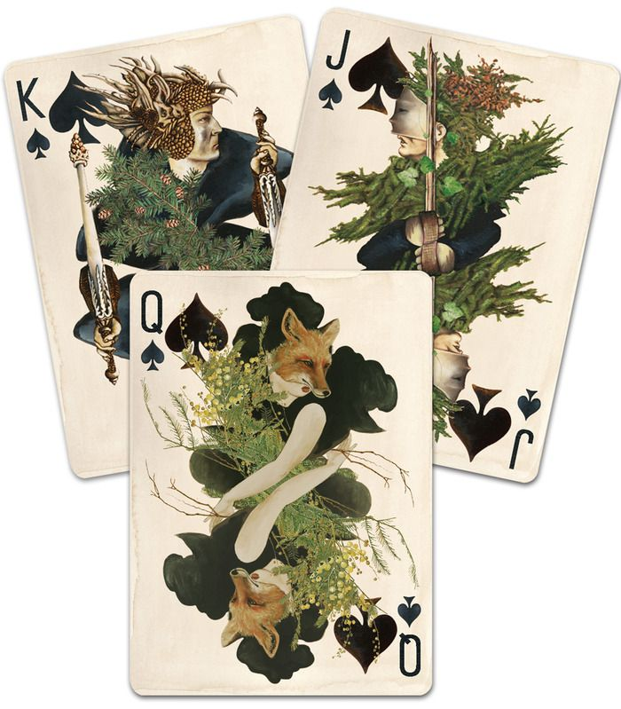 "PAGAN Custom Playing Cards by Uusi — Kickstarter.  An entirely hand-painted deck that gives new meaning to the term, ""Wild Card!"" FINAL DAY TO GET YOUR DECK DEC. 21!"