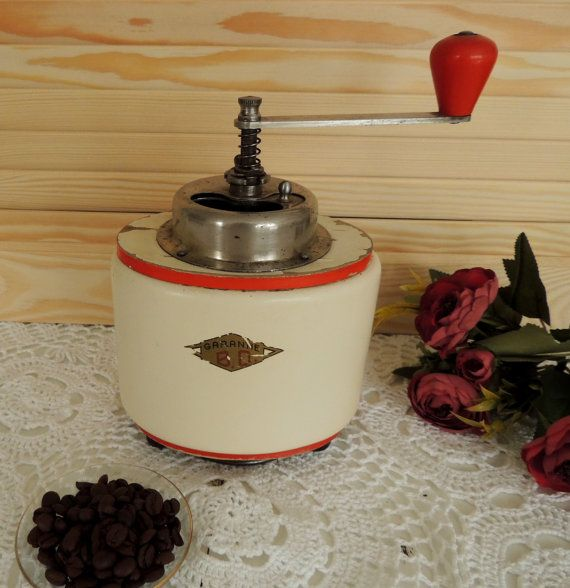Vintage Coffee Grinder Garantie Rare Coffee Mill Vintage