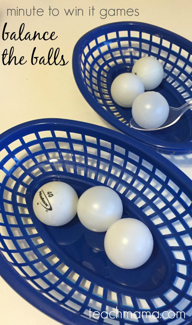 minute to win it games balance the balls | minute to win it games --> great for family fun night, birthday parties, or class parties. and? there's a ton of FUN along with math and movement! -->  grab everything you need at teachmama.com