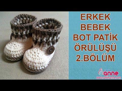 Erkek Bebek Bot Patik Yapılışı 2.Bölüm - YouTube