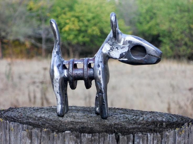 Plier dog metal sculpture found objects metal art home for Daylight designs metal garden art