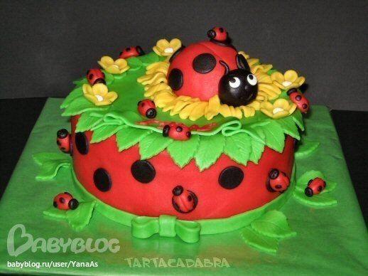 Торт на второй день рождения - Babyblog.ru