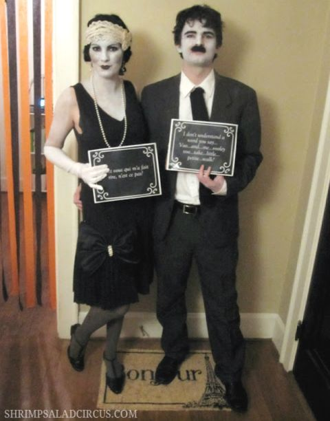These black and white film actors sure do look ready to have a good time. Try to watch out for the adoring fans!Get the tutorial at Shrimp Salad Circus.