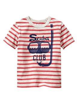 Striped scuba graphic T