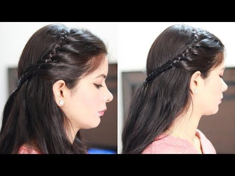 Quick And Easy Party Hairstyle Long Medium Hair Hairstyle For Party Function Wedding Sangeet Y Medium Hair Styles Easy Party Hairstyles Party Hairstyles