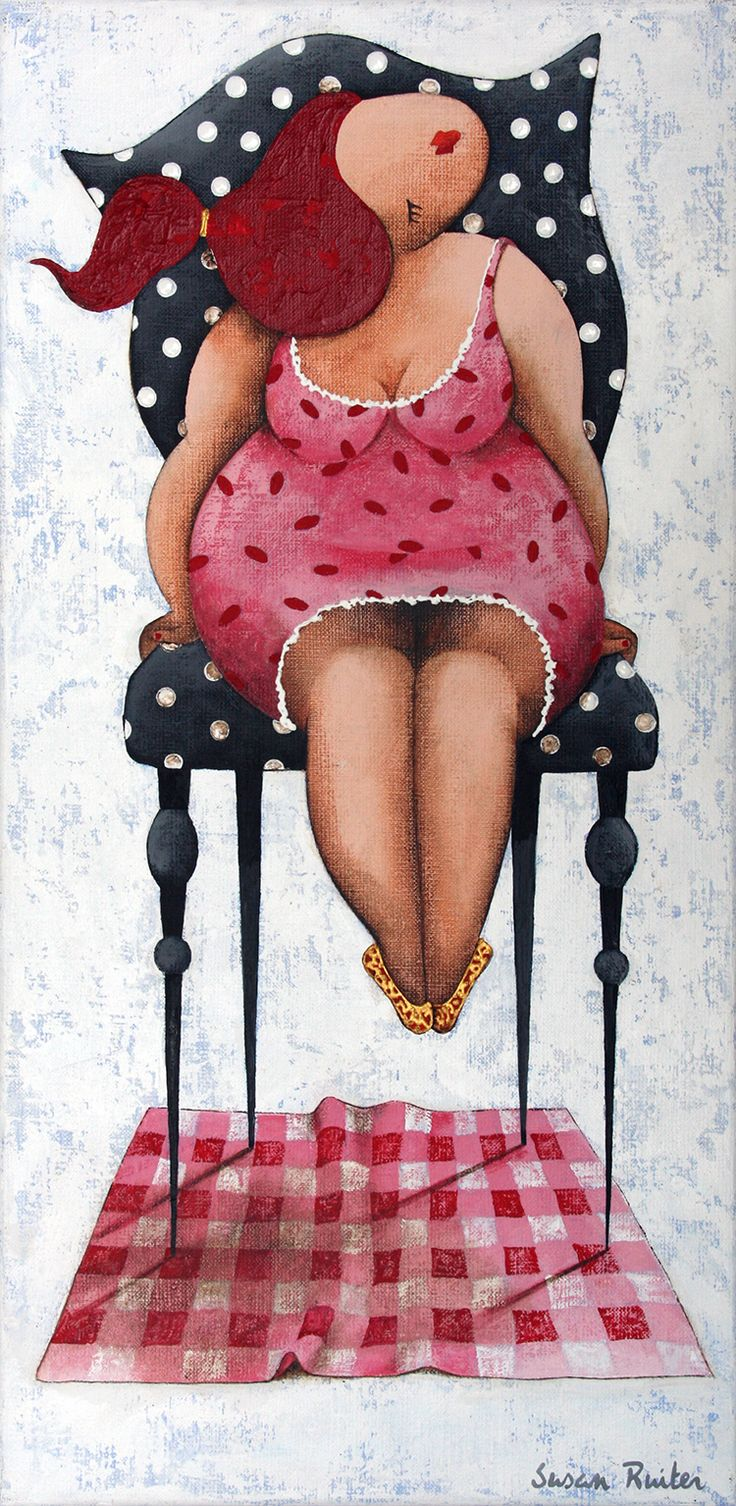 Susan Ruiter is een van de vier kunstenaars die in het onderzoek gebruikt werden. Ruiter behoort tot een van de bekendste kunstenaars die dikke dames schilderen.